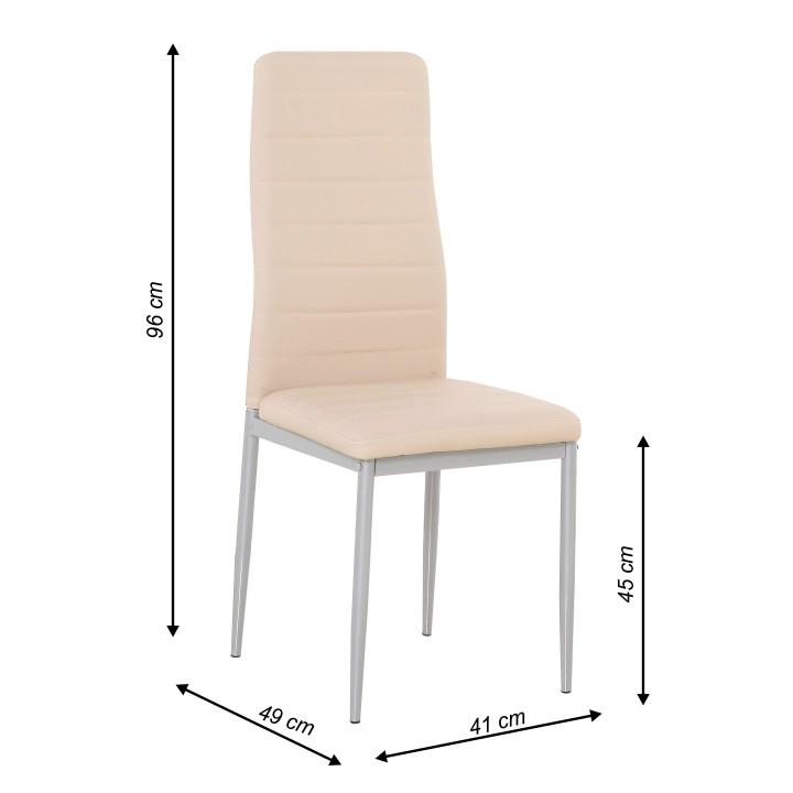 18ae34f4f431f Jedálenská stolička Coleta nova (ružová) | NovýNábytok.sk