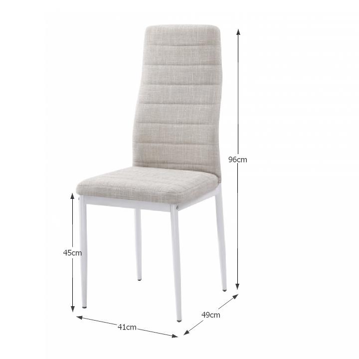 ee5b3c30a1685 Jedálenská stolička Coleta nova (béžová + biela) | NovýNábytok.sk
