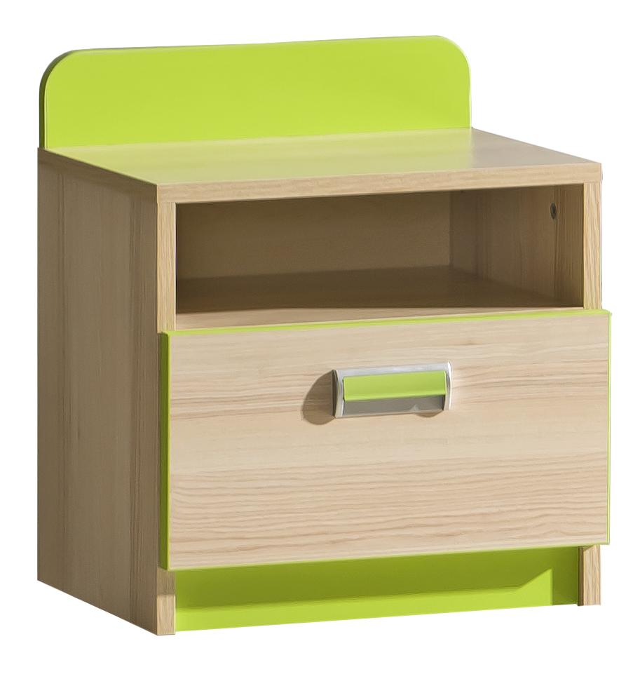 Nočný stolík - Tempo Kondela - Ego - L12 zelená