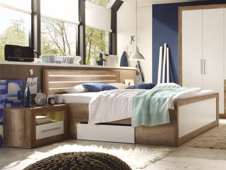 Manželská posteľ 180 cm - Tempo Kondela - Ferara (s úl. priestorom + 2 ks stolík). Sme autorizovaný predajca Tempo-Kondela. Vlastná spoľahlivá doprava až k Vám domov.