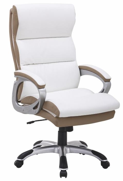 Kancelárske kreslo - Tempo Kondela - Kolo biela + hnedá