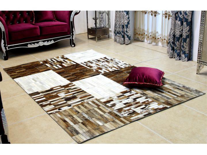 Kožený koberec - Tempo Kondela - TYP 04 (hovädzia koža + vzor patchwork). Sme autorizovaný predajca Tempo-Kondela. Vlastná spoľahlivá doprava až k Vám domov.