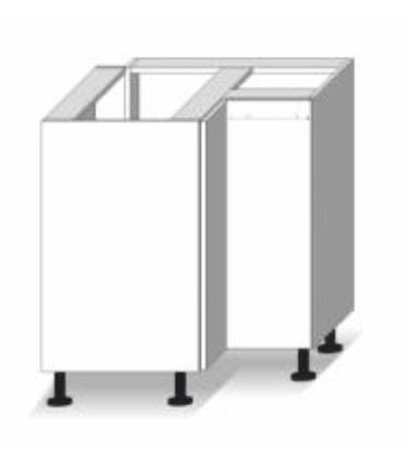 Dolná kuchynská skrinka, rohová - Tempo Kondela - Line - DR L