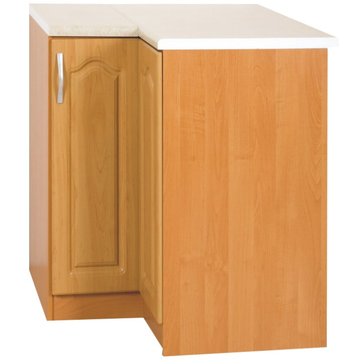 Dolná kuchynská skrinka, rohová - Tempo Kondela - Lora MDF klasik S90/90/P jelša (P). Akcia -15%. Sme autorizovaný predajca Tempo-Kondela. Vlastná spoľahlivá doprava až k Vám domov.