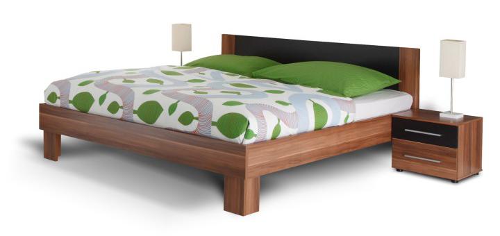 Manželská posteľ 180 cm + 2 noč. stolíky - Tempo Kondela - Martina orech. Sme autorizovaný predajca Tempo-Kondela. Vlastná spoľahlivá doprava až k Vám domov.