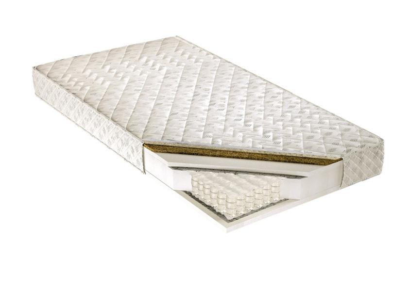 Taštičkový matrac - Tempo Kondela - Palmea 200x140 cm. Kvalitný a pružný vysoký matrac s latexovou doskou a letno-zimným poťahom, s prímesou ovčieho rúna na zimnej strane, pre maximálne pohodlie.
