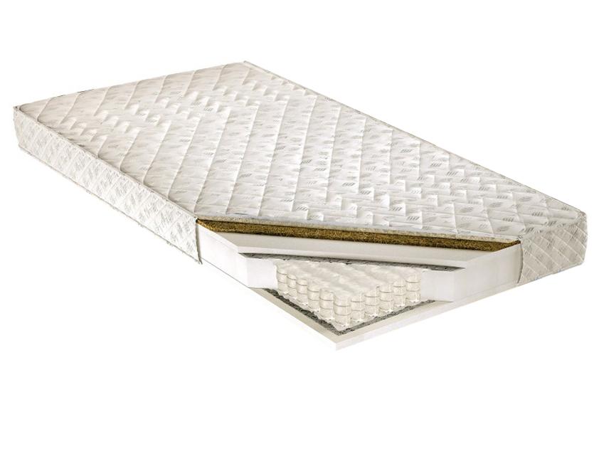 Taštičkový matrac - Tempo Kondela - Palmea 200x180 cm. Kvalitný a pružný vysoký matrac s latexovou doskou a letno-zimným poťahom, s prímesou ovčieho rúna na zimnej strane, pre maximálne pohodlie.
