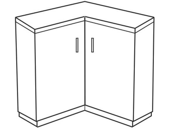 Dolná kuchynská skrinka, rohová - Tempo Kondela - Narcis - DN-86x86