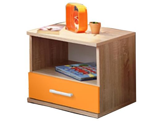 Nočný stolík - Tempo Kondela - Emio - Typ 05 - Oranžová