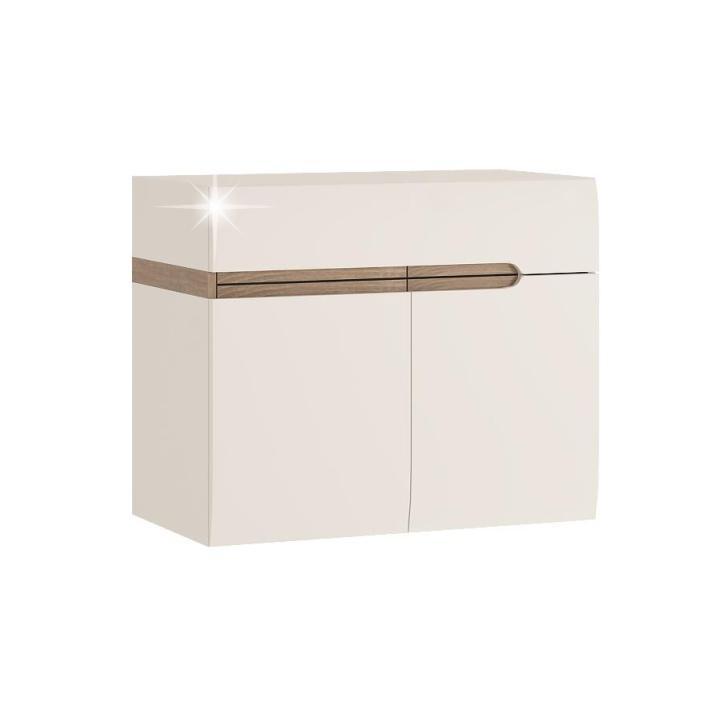 Kúpeľňová skrinka pod umývadlo Lynatet Typ 150 2D (s umývadlom)