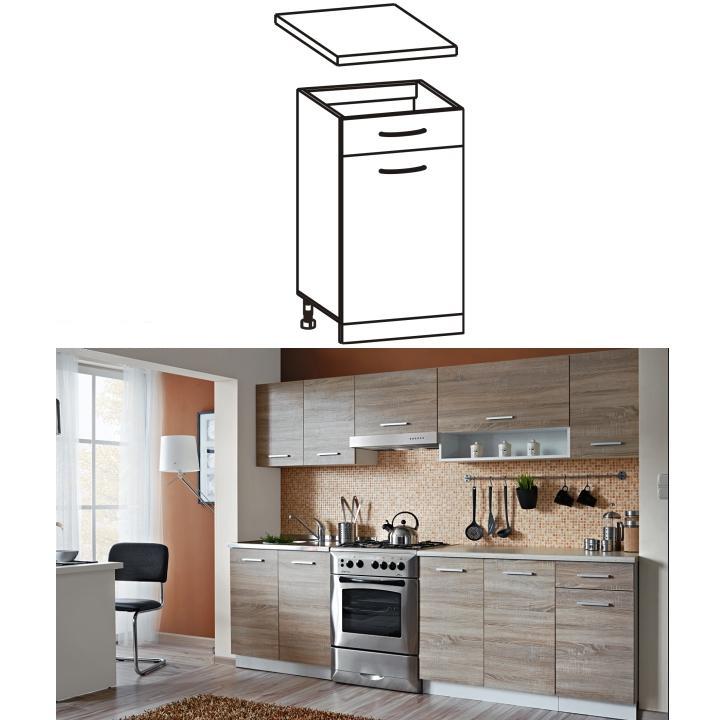 Dolná kuchynská skrinka - Tempo Kondela - Cyra New - D1S-40. Sme autorizovaný predajca Tempo-Kondela. Vlastná spoľahlivá doprava až k Vám domov.