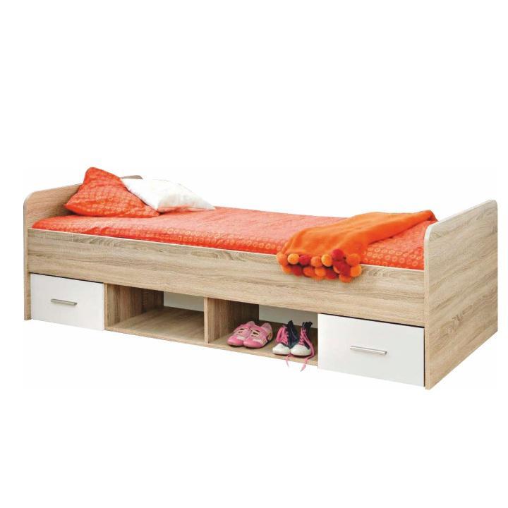 Jednolôžková posteľ 90 cm - Tempo Kondela - Emio - Typ 04 - Biela. Sme autorizovaný predajca Tempo-Kondela. Vlastná spoľahlivá doprava až k Vám domov.