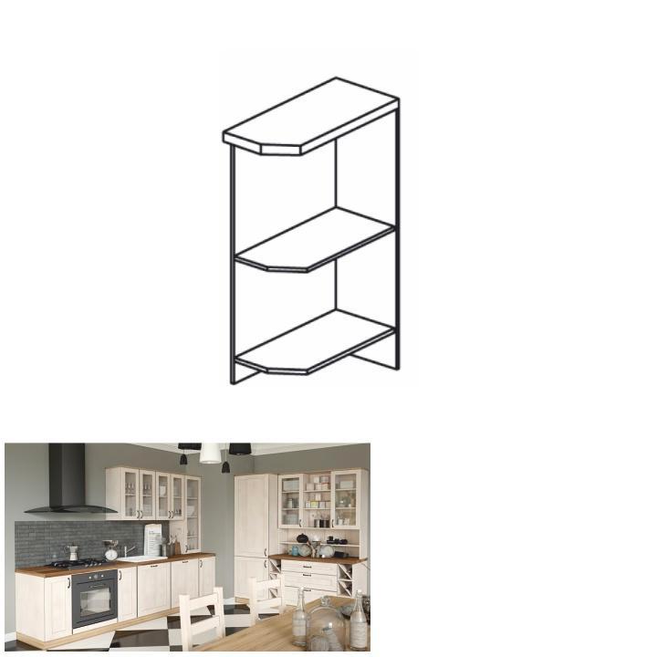 Dolná kuchynská skrinka, rohová - Tempo Kondela - Royal D25PZ/P sosna nordická /dub divoký (P). Sme autorizovaný predajca Tempo-Kondela. Vlastná spoľahlivá doprava až k Vám domov.