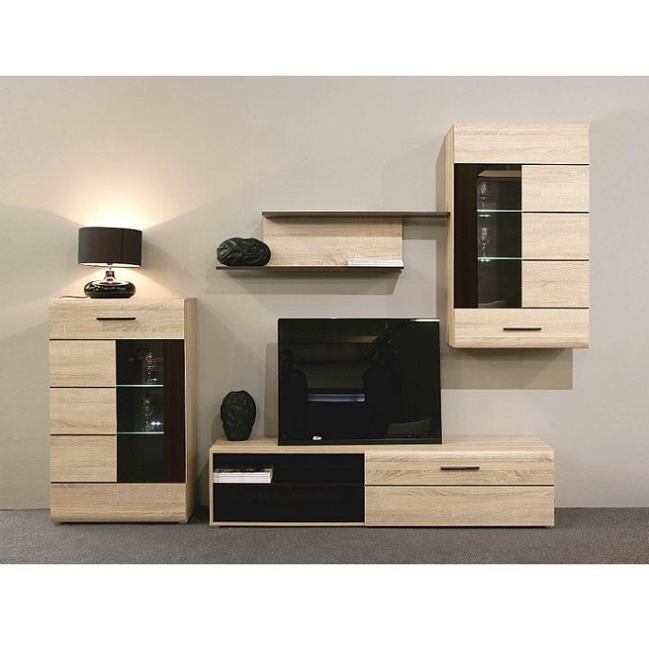 Obývacia stena - Tempo Kondela - Presli Kombino - SOUM011B (s osvetlením). Akcia -17%. Sme autorizovaný predajca Tempo-Kondela. Vlastná spoľahlivá doprava až k Vám domov.