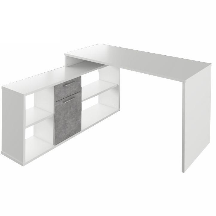 PC stolík - Tempo Kondela - Noe new (biela + betón). Akcia -10%. Sme autorizovaný predajca Tempo-Kondela. Vlastná spoľahlivá doprava až k Vám domov.