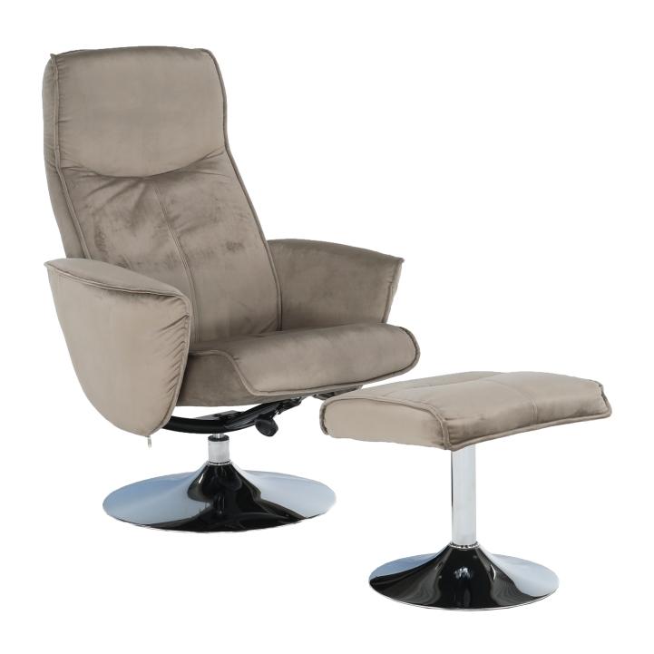 Relaxačné kreslo - Tempo Kondela - Lonato (hnedosivá). Sme autorizovaný predajca Tempo-Kondela. Vlastná spoľahlivá doprava až k Vám domov.