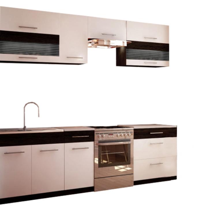 Kuchyňa - Tempo Kondela - Jura New B 260 cm. Sme autorizovaný predajca Tempo-Kondela. Vlastná spoľahlivá doprava až k Vám domov.