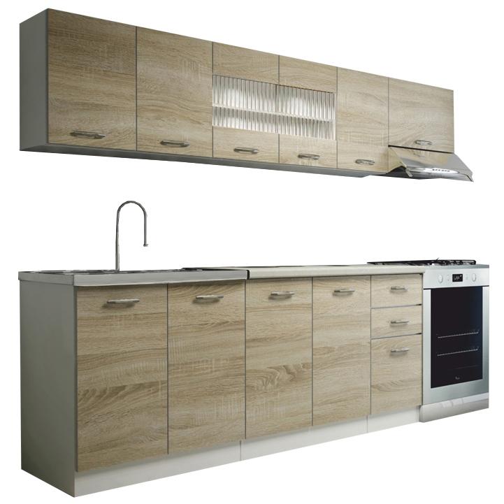Kuchyňa - Tempo Kondela - Promo 260 cm. Sme autorizovaný predajca Tempo-Kondela. Vlastná spoľahlivá doprava až k Vám domov.