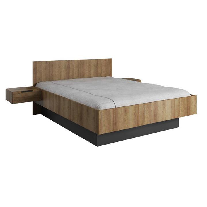 Manželská posteľ 160 cm s nočnými stolíkmi - Tempo Kondela - Manno. Sme autorizovaný predajca Tempo-Kondela. Vlastná spoľahlivá doprava až k Vám domov.