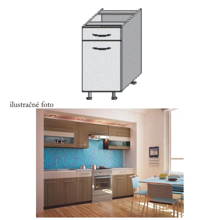 Dolná kuchynská skrinka - Tempo Kondela - Jura New - D-40 S1. Sme autorizovaný predajca Tempo-Kondela. Vlastná spoľahlivá doprava až k Vám domov.