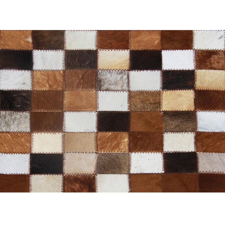 Kožený koberec - Tempo Kondela - TYP 03 (hovädzia koža + vzor patchwork). Sme autorizovaný predajca Tempo-Kondela. Vlastná spoľahlivá doprava až k Vám domov.