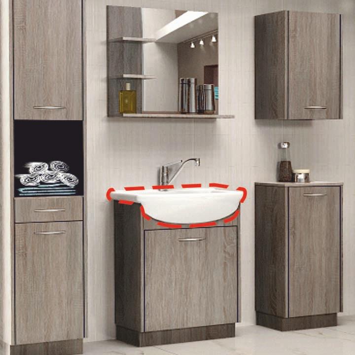 Umývadlo - Tempo Kondela - Olivia UM_16 keramické