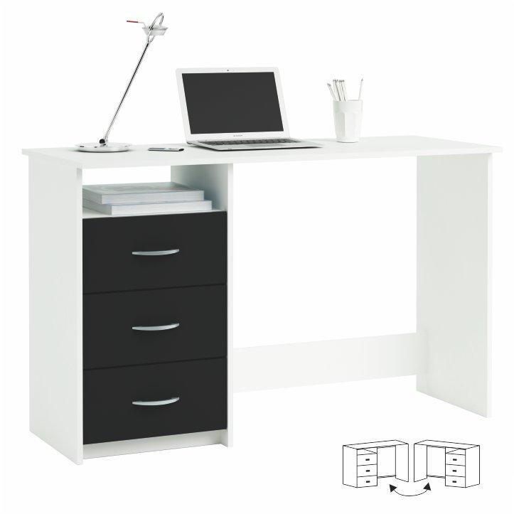 PC stolík - Tempo Kondela - Laristote biela+čierna L/P
