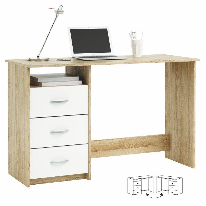 PC stolík - Tempo Kondela - Laristote Dub Sonoma+biela L/P