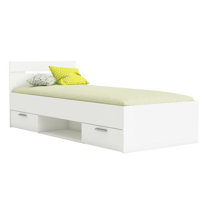 ffb22711223a Jednolôžková posteľ 90 cm Michigan (biela)