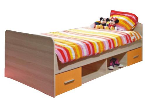 Jednolôžková posteľ 90 cm - Tempo Kondela - Emio - Typ 04 - Oranžová