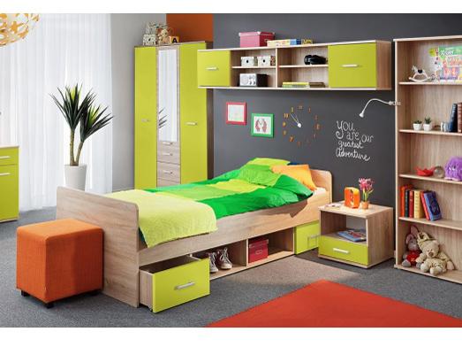 Jednolôžková posteľ 90 cm - Tempo Kondela - Emio - Typ 04 - Zelená
