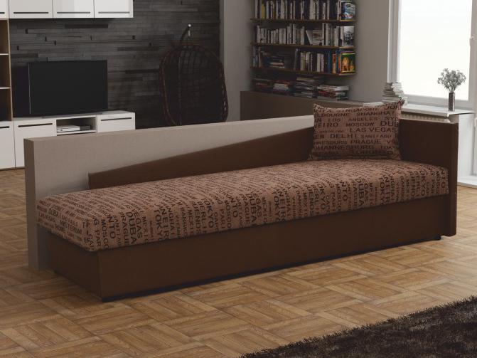 Jednolôžková posteľ (váľanda) 80 cm - Tempo Kondela - Judit (hnedá) (s úl. priestorom) (P) *výpredaj. Akcia -10%. Sme autorizovaný predajca Tempo-Kondela. Vlastná spoľahlivá doprava až k Vám domov.