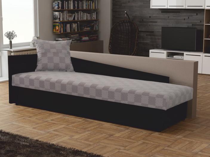 Jednolôžková posteľ (váľanda) 80 cm - Tempo Kondela - Judit (sivá + čierna) (s úl. priestorom) (Ľ). Sme autorizovaný predajca Tempo-Kondela. Vlastná spoľahlivá doprava až k Vám domov.
