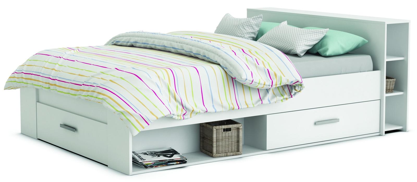 b733a365dea07 Manželská posteľ 140 cm - Tempo Kondela - Roket biela