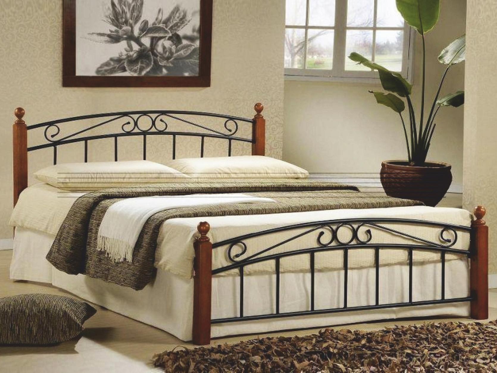 Manželská posteľ 140 cm - Tempo Kondela - Dolores (s roštom)