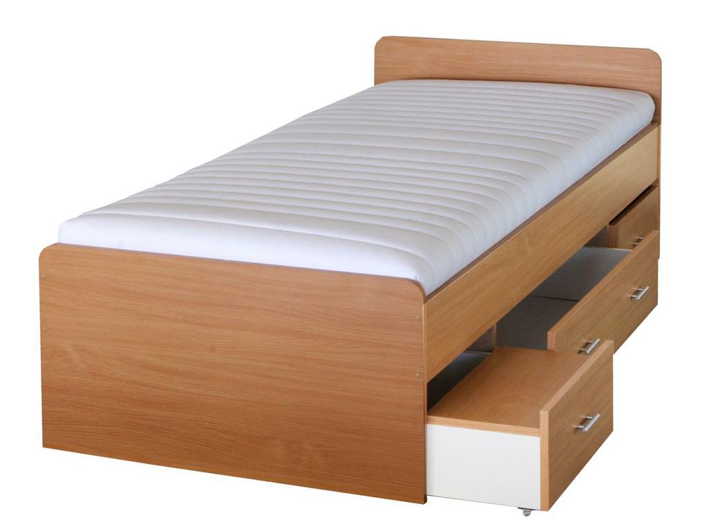 Jednolôžková posteľ 90 cm - Tempo Kondela - Duet buk