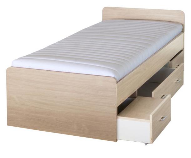 Jednolôžková posteľ 90 cm - Tempo Kondela - Duet javor