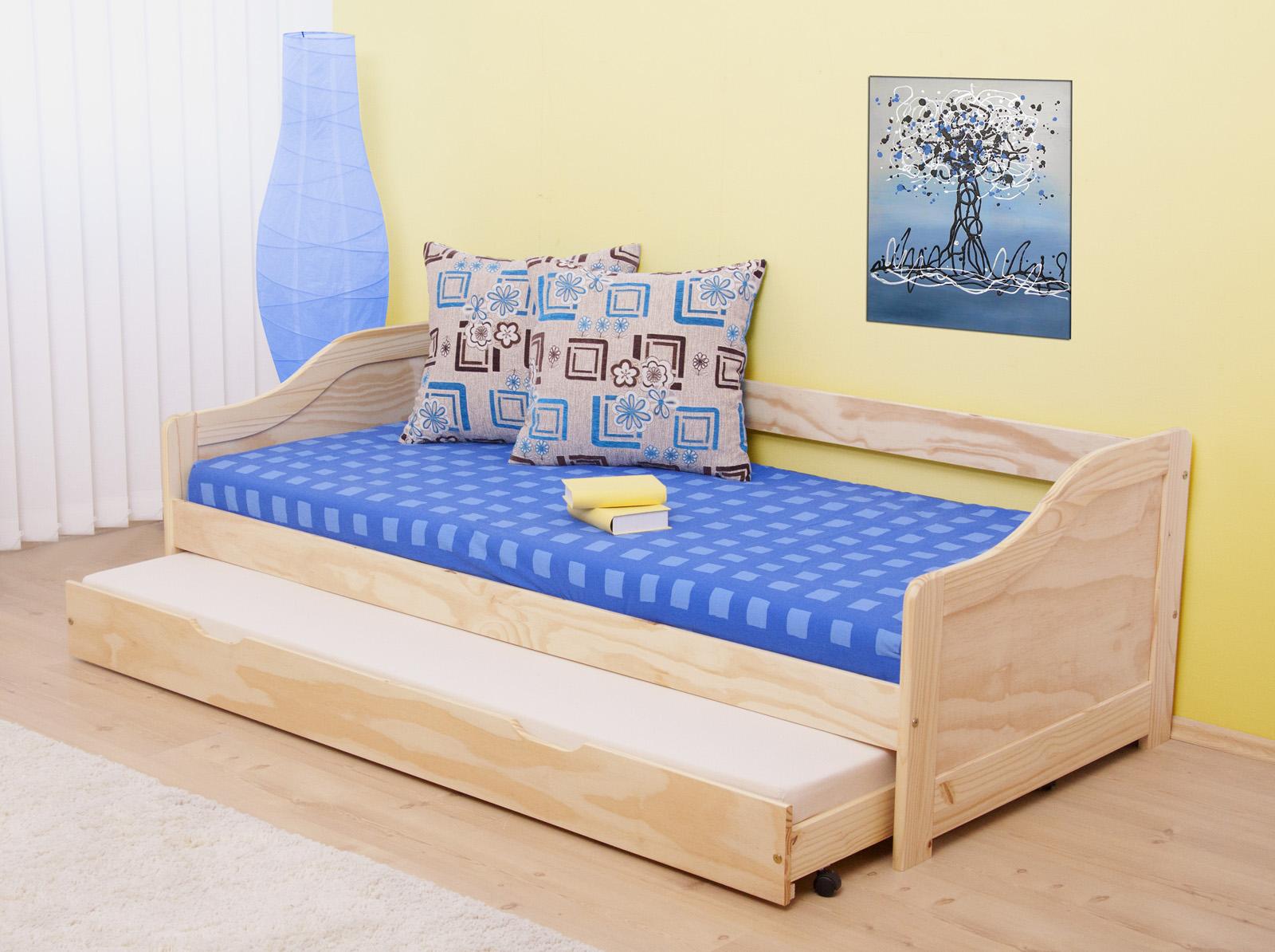 Rozkladacia posteľ 90 cm - Tempo Kondela - Laura (masív, s dvomi roštami)