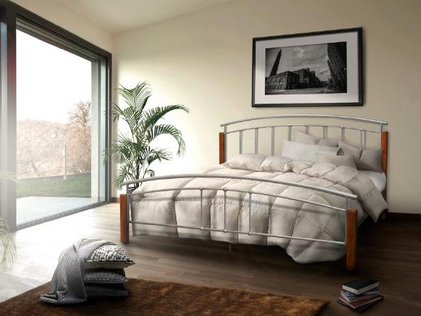 Manželská posteľ 160 cm - Tempo Kondela - Mirela (s roštom). Sme autorizovaný predajca Tempo-Kondela. Vlastná spoľahlivá doprava až k Vám domov.