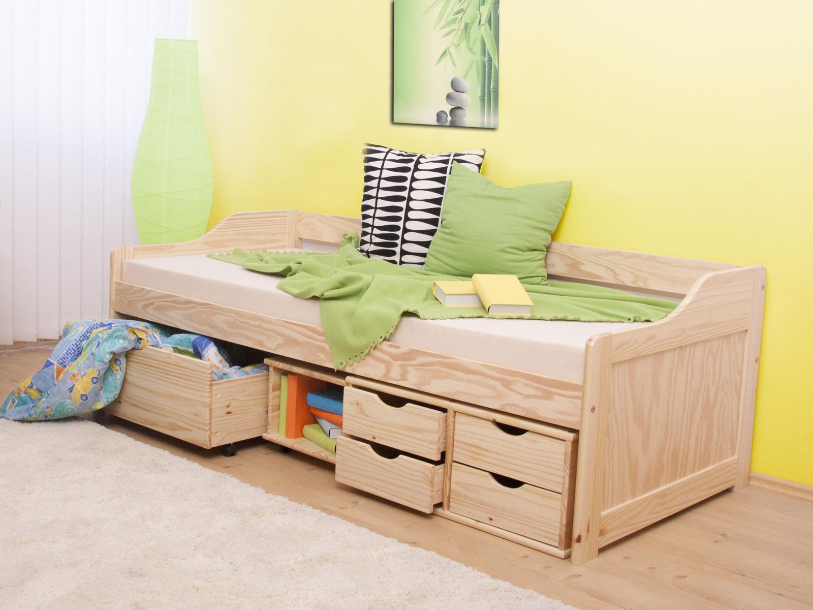 babb04f9a2b80 Jednolôžková posteľ 90 cm Maxi (masív, s roštom) | NovýNábytok.sk