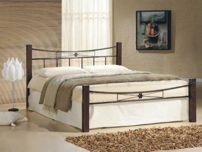 Manželská posteľ 140 cm - Tempo Kondela - Paula (s roštom)