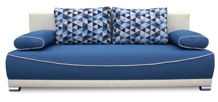 Pohovka trojsedačka - Tempo Kondela - Dinar (modrá + béžová). Sme autorizovaný predajca Tempo-Kondela. Vlastná spoľahlivá doprava až k Vám domov.