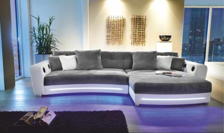 Rohová sedačka - Tempo Kondela - Luxlaredo (P) (s audiosystémom a LED)