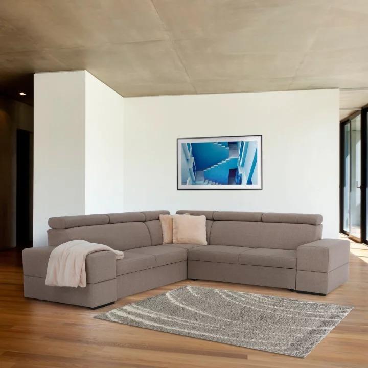 Rohová sedačka - Tempo Kondela - Monako (L) (capuccino). Doprava ZDARMA. Sme autorizovaný predajca Tempo-Kondela. Vlastná spoľahlivá doprava až k Vám domov.