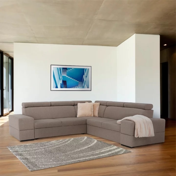 Rohová sedačka - Tempo Kondela - Monako (P) (capuccino). Doprava ZDARMA. Sme autorizovaný predajca Tempo-Kondela. Vlastná spoľahlivá doprava až k Vám domov.