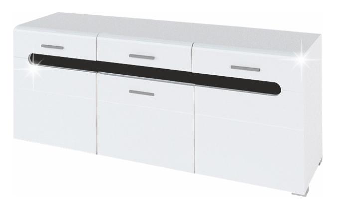 TV stolík/skrinka - Tempo Kondela - Owal - LB
