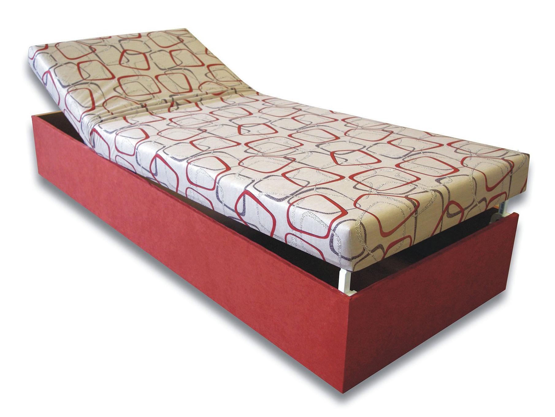 93521980866bf Jednolôžková posteľ (váľanda) 90 cm Darina (Tehlová 41 + Dodo 1008 ...