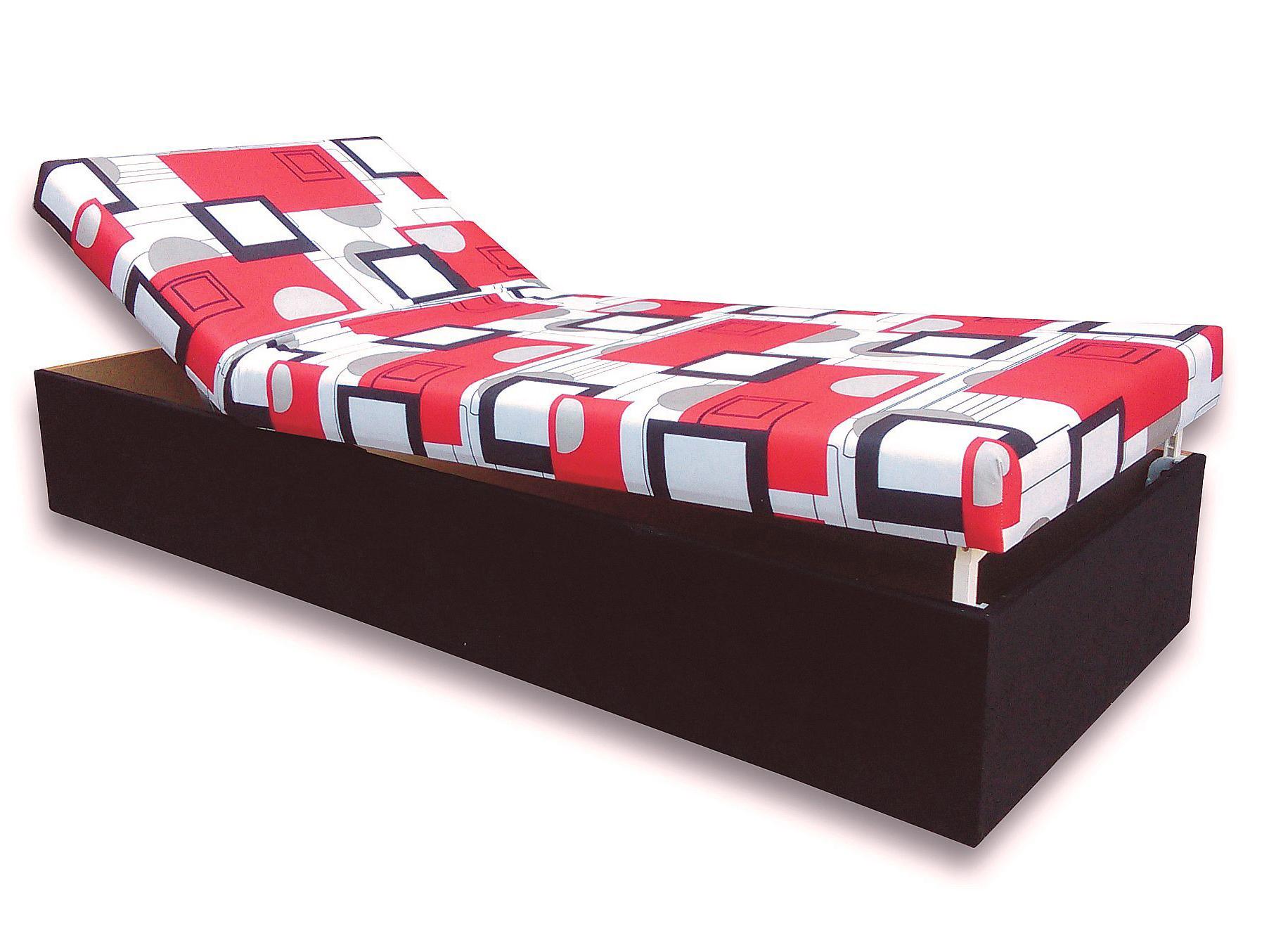 fe04a5a7f6c90 Jednolôžková posteľ (váľanda) 80 cm Darina (Čierna 39 + Otawa 1 ...