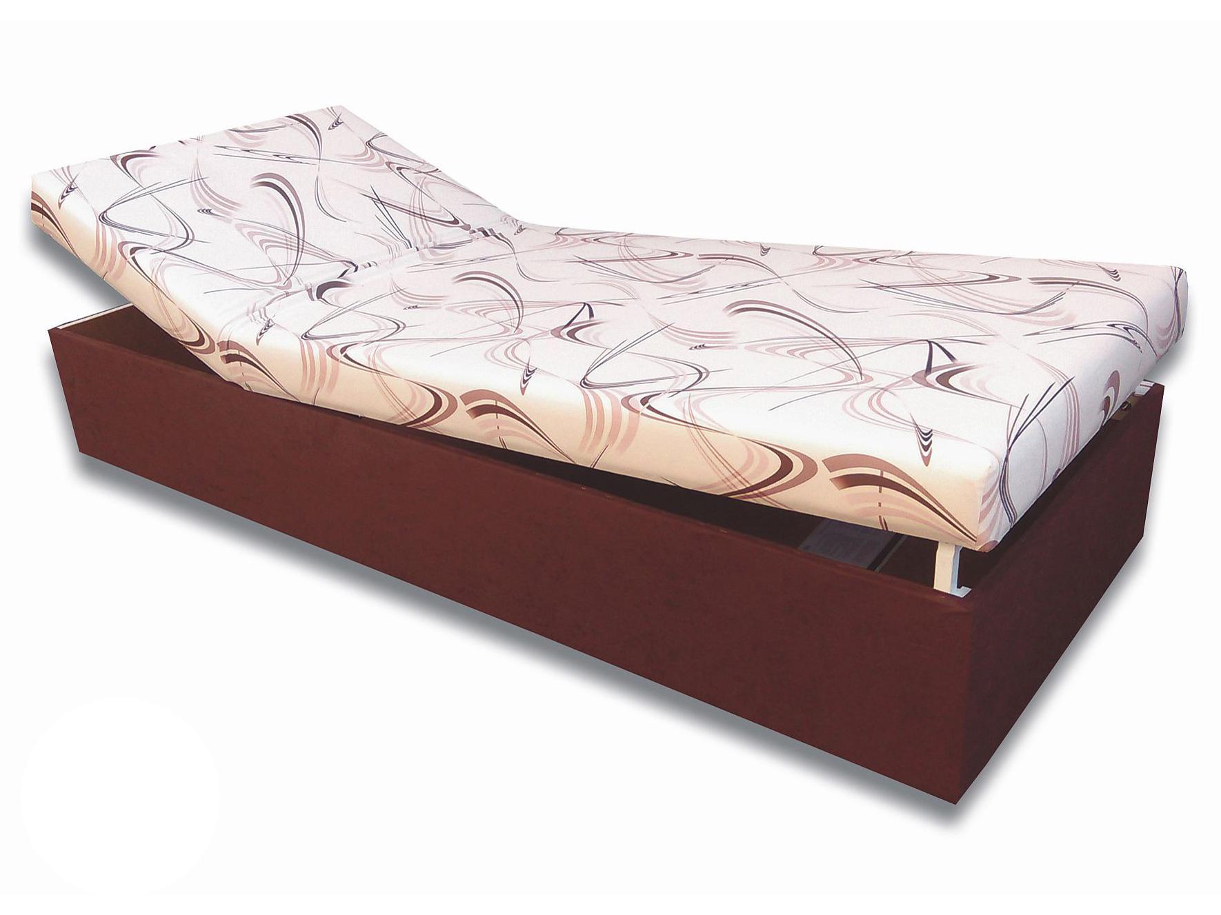 d886f5e28544f Jednolôžková posteľ (váľanda) 90 cm Darina (Tmavohnedá 40 + Sand 10 ...