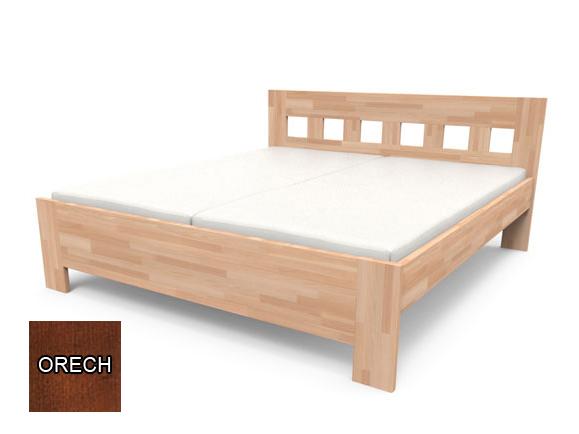 Manželská posteľ 160 cm - Styler - Jana Senior (orech) *výpredaj. Akcia -10%. Sme autorizovaný predajca Styler. Vlastná spoľahlivá doprava až k Vám domov.